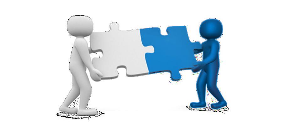 Website fabrik et client assembent un puzzle