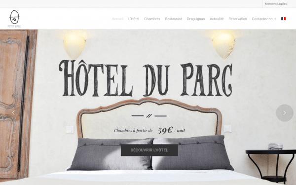Création du site internet de l'hôtel restaurant du parc à Draguignan