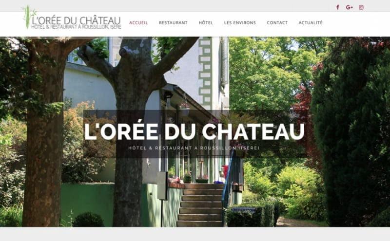 Création du site web de l'hôtel Oree du Chateau