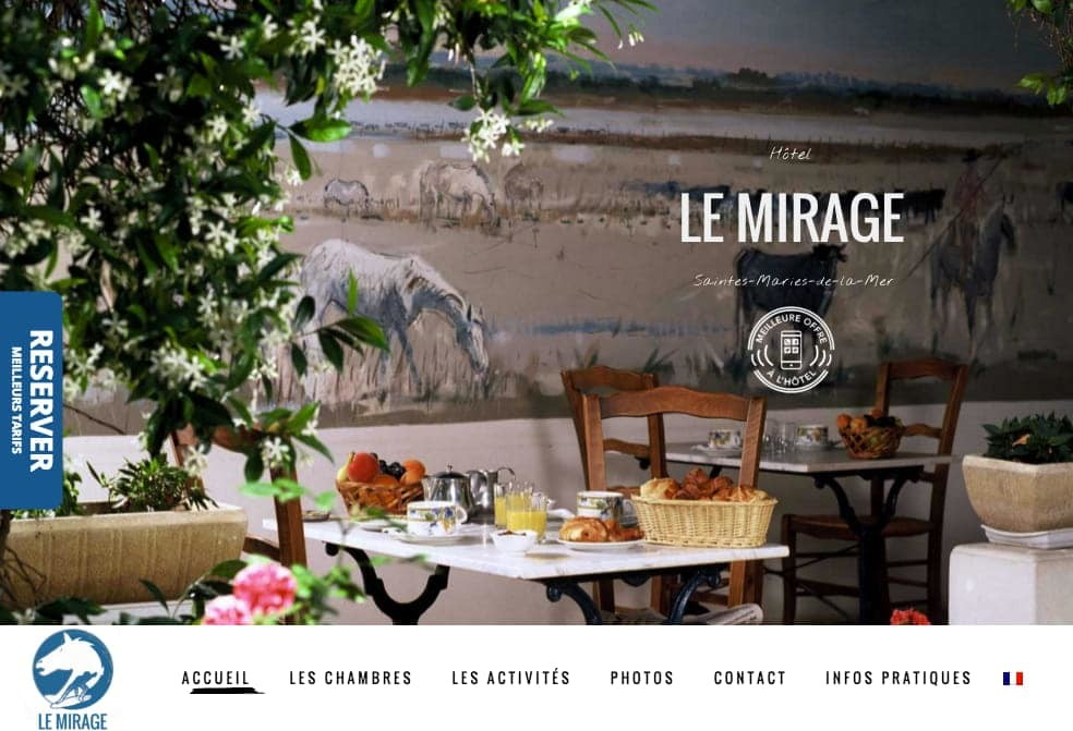Creation du site internet de l'hotel Mirage