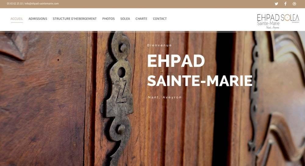 Création du site de l'Ehpad Ste Marie