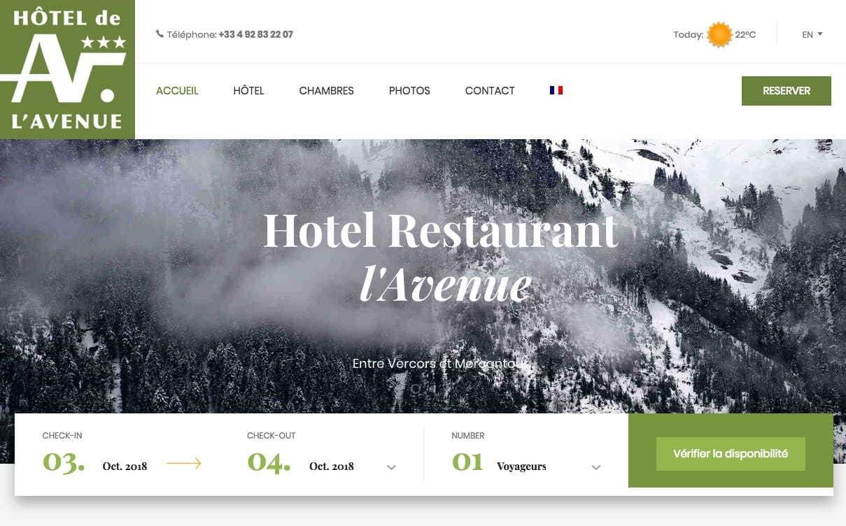 Création du site Hotel Annot
