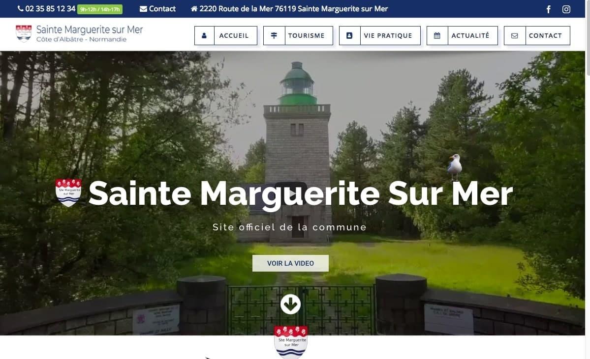Création du site d'une commune Normande