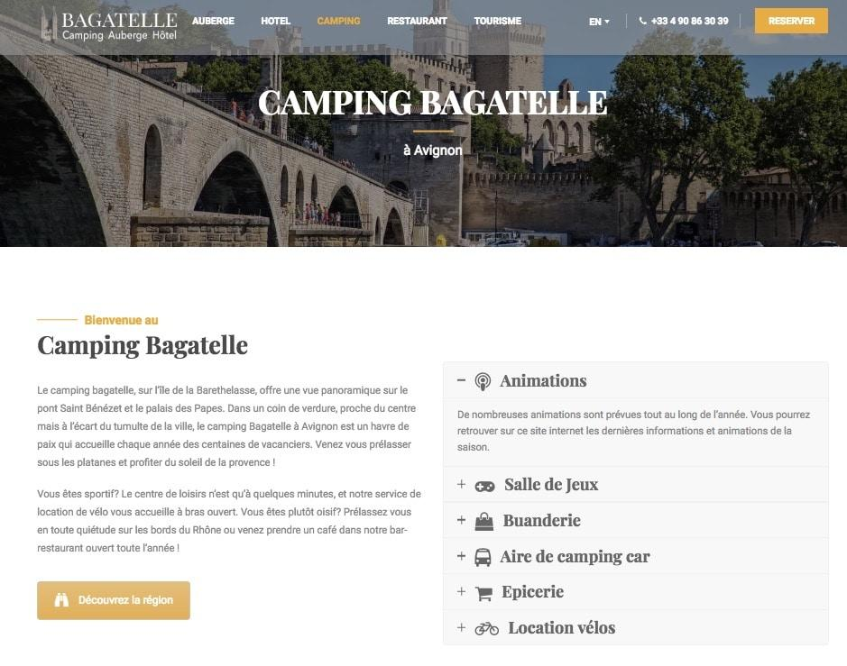 creation site internet pour camping
