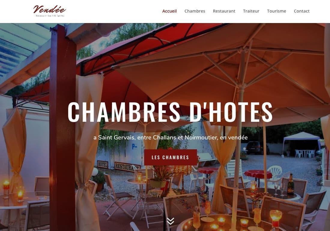 Création du site des chambres d'hôtes Le Marais