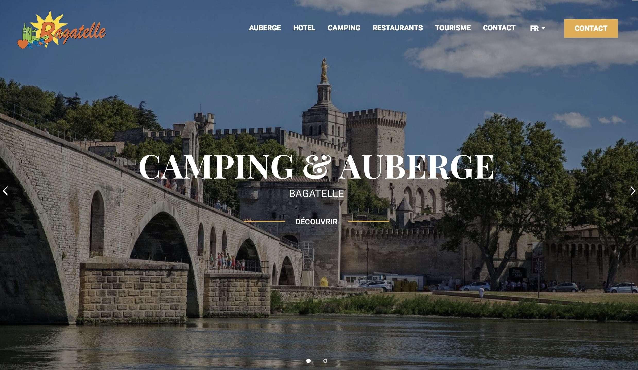 Création du site internet du Camping Bagatelle