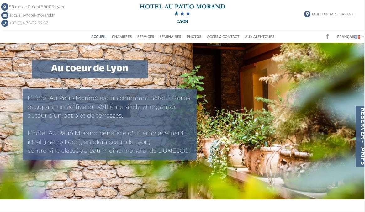 Création du Site d'un Hôtel Patio