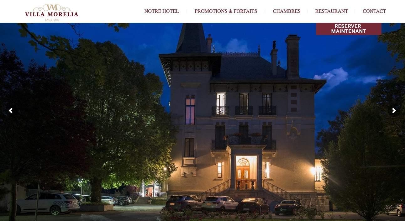 Création site internet Villa Morelia Jausiers