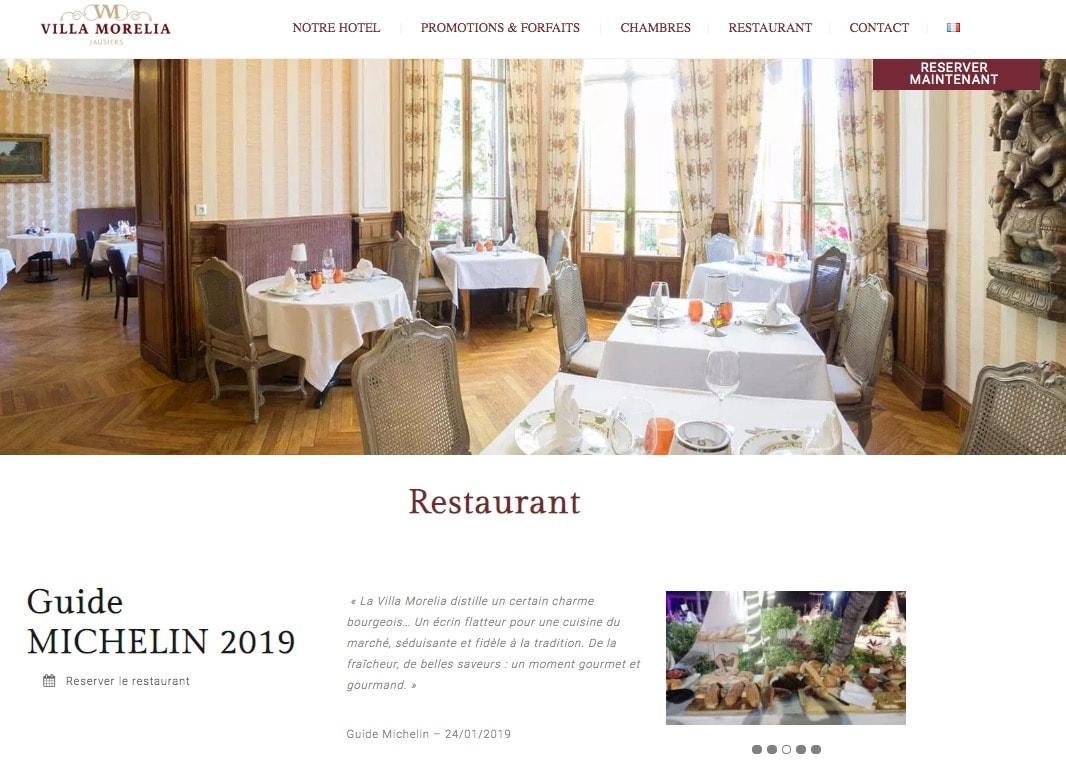 Création de site internet pour hôtel 4 étoiles