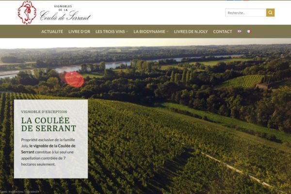 exemple site vignoble