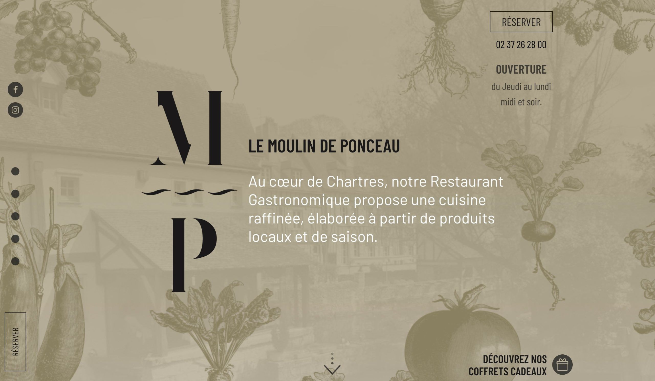 exemple site restaurant