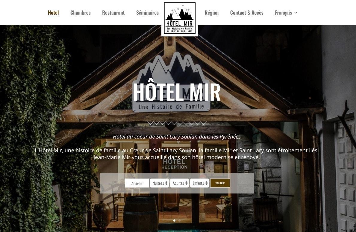 Création Du Site d'Un Hôtel de Montagne