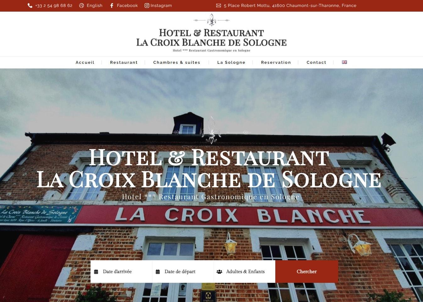Création du site d'un restaurant gastronomique
